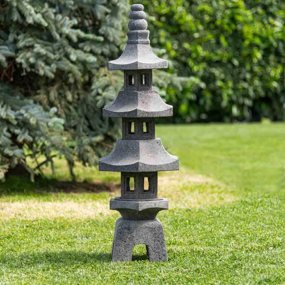 Lanterne Japonaise Jardin Zen Lanterne Japonaise Pagode En Pierre De Lave Jardin Zen 100 Cm