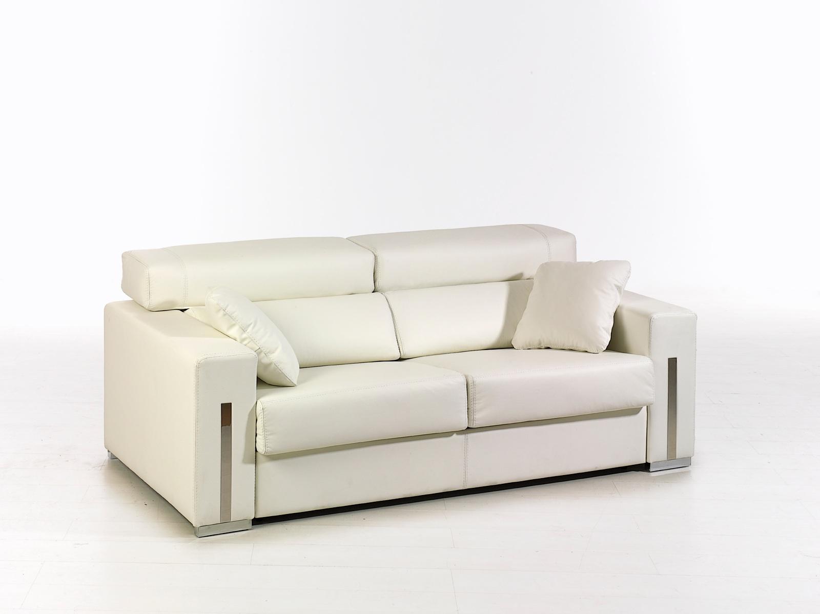 Canapé cuir blanc Allégria Magasin de meubles Plan de