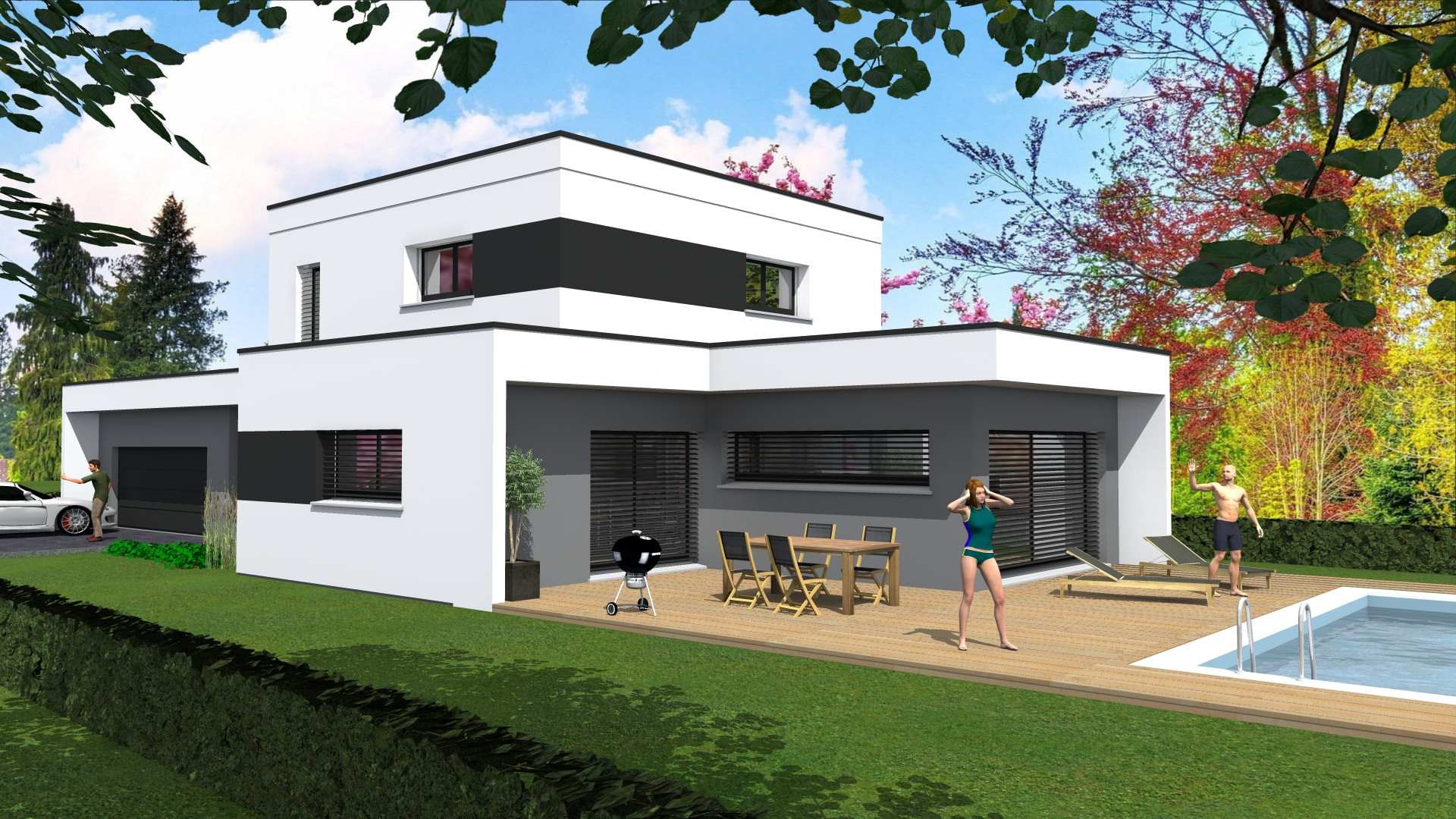Maison Contemporaine Toit Terrasse maison a toit plat maisons contemporaines toit plat - idees