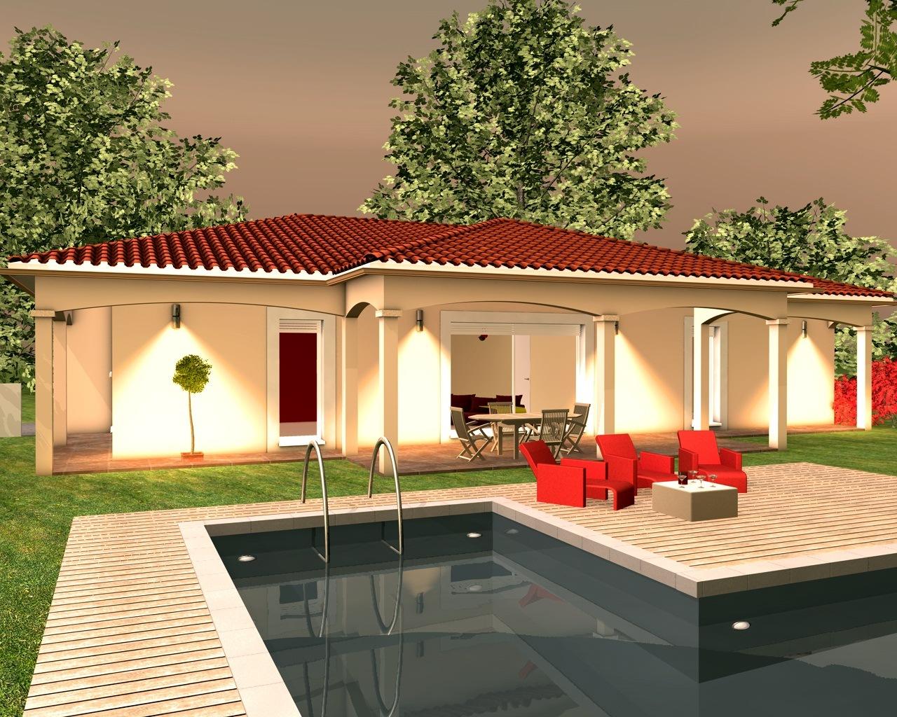 Maison Avec Terrasse Couverte Modèles Et Plans De Maisons Modèle De Plain Pied