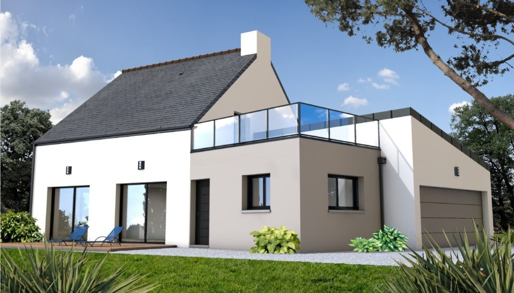 Maison avec toit terrasse un aménagement moderne et pratique