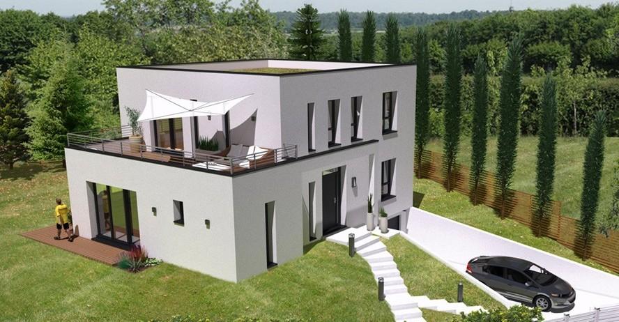 Maison haut de gamme toit terrasse