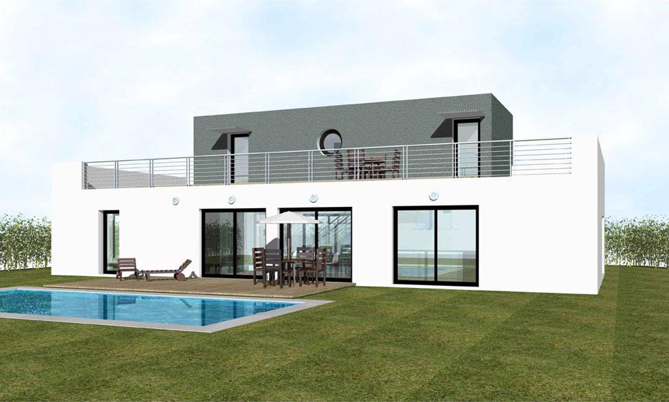 maison moderne toit terrasse