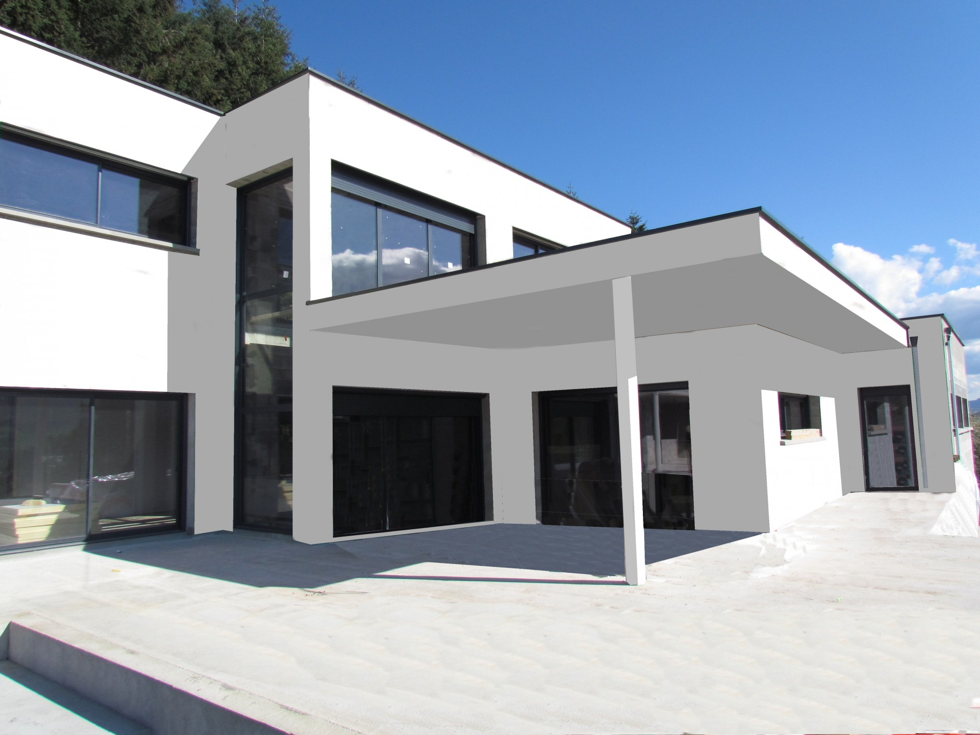 Extension Maison Terrasse Couverte maison toit terrasse maison toit plat avec terrasse couverte
