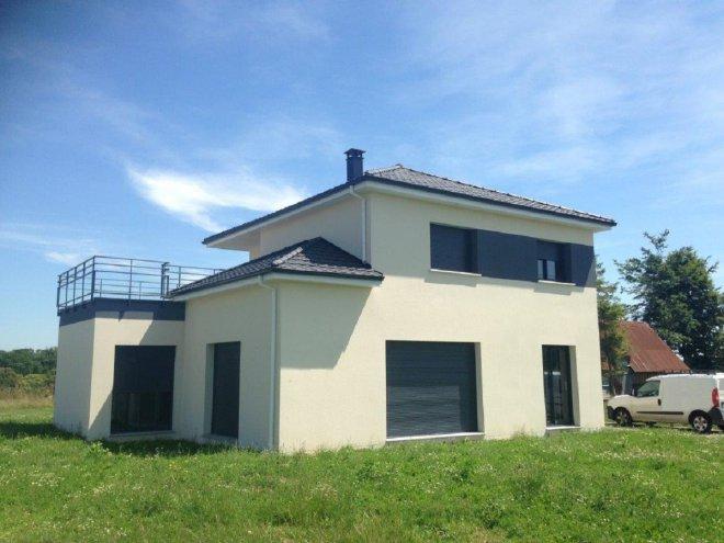 Maison toit terrasse 76