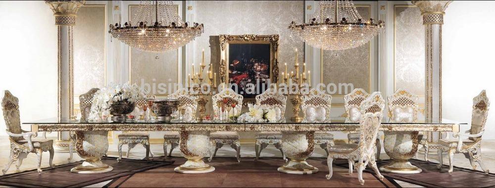 Luxe Style de Design italien laiton et bois salle à manger