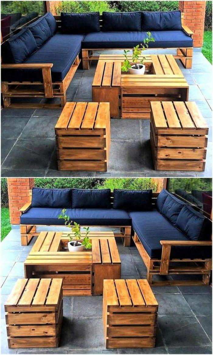 1001 Idées pour des meubles de jardin en palettes