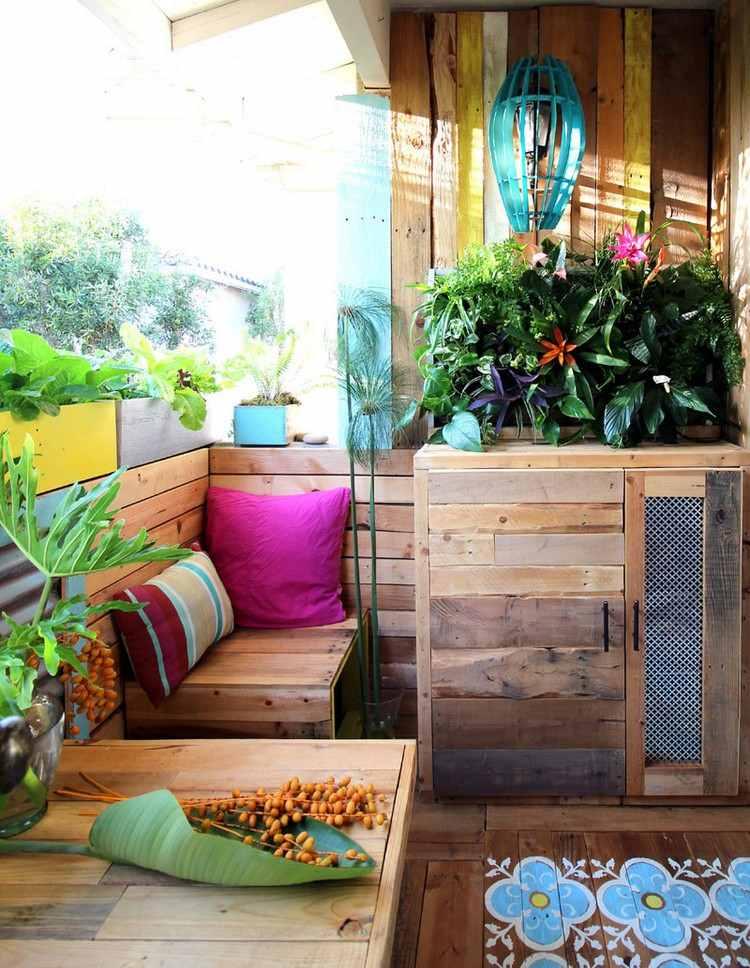 Meuble extérieur en palette de bois en 20 idées d