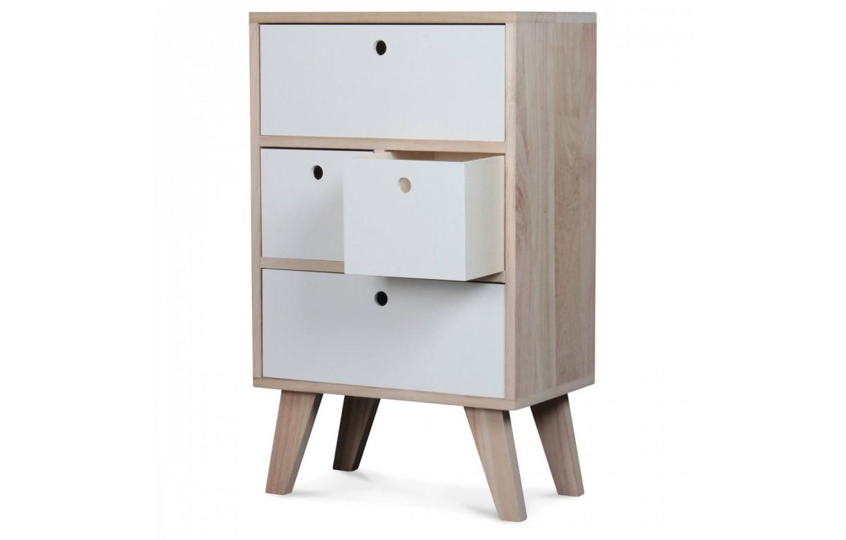 Meuble de rangement style scandinave blanc en bois 4