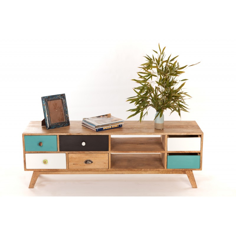 Meuble tv bas design scandinave