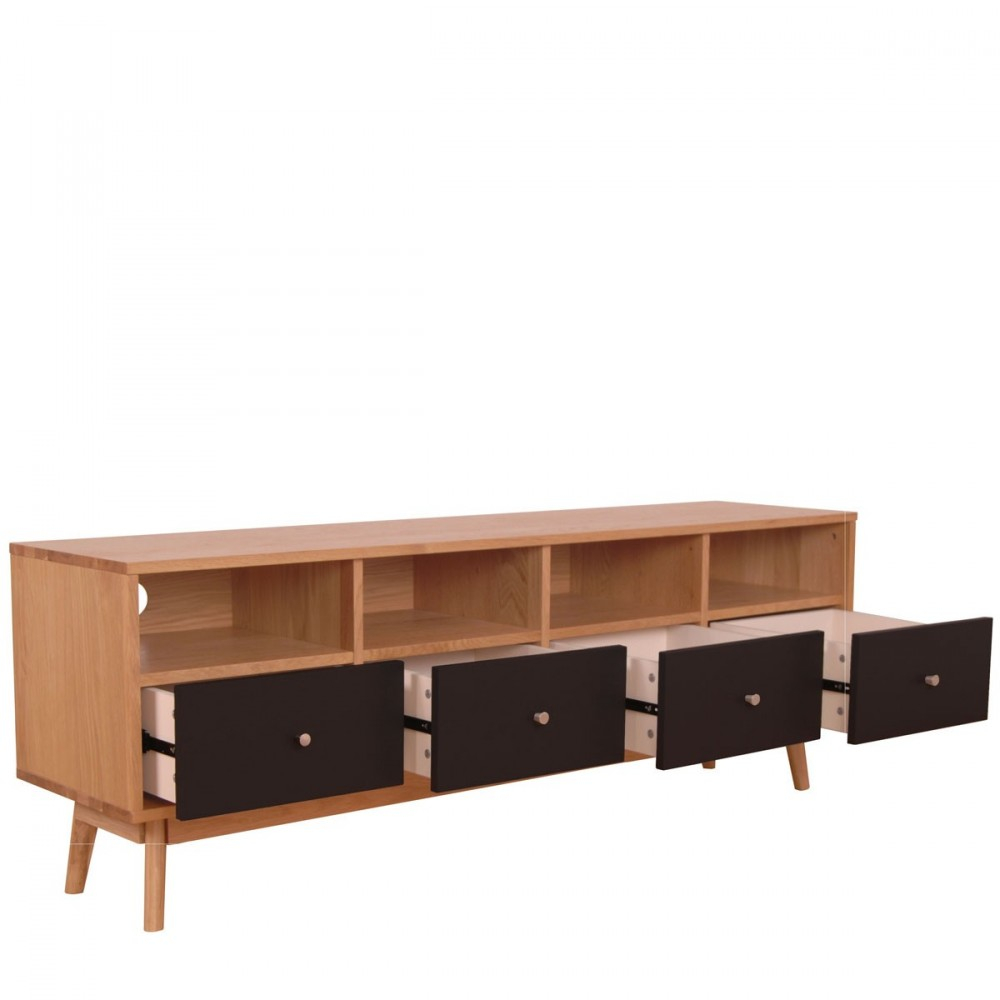 Meuble TV scandinave 4 tiroirs SKOLL by Drawer