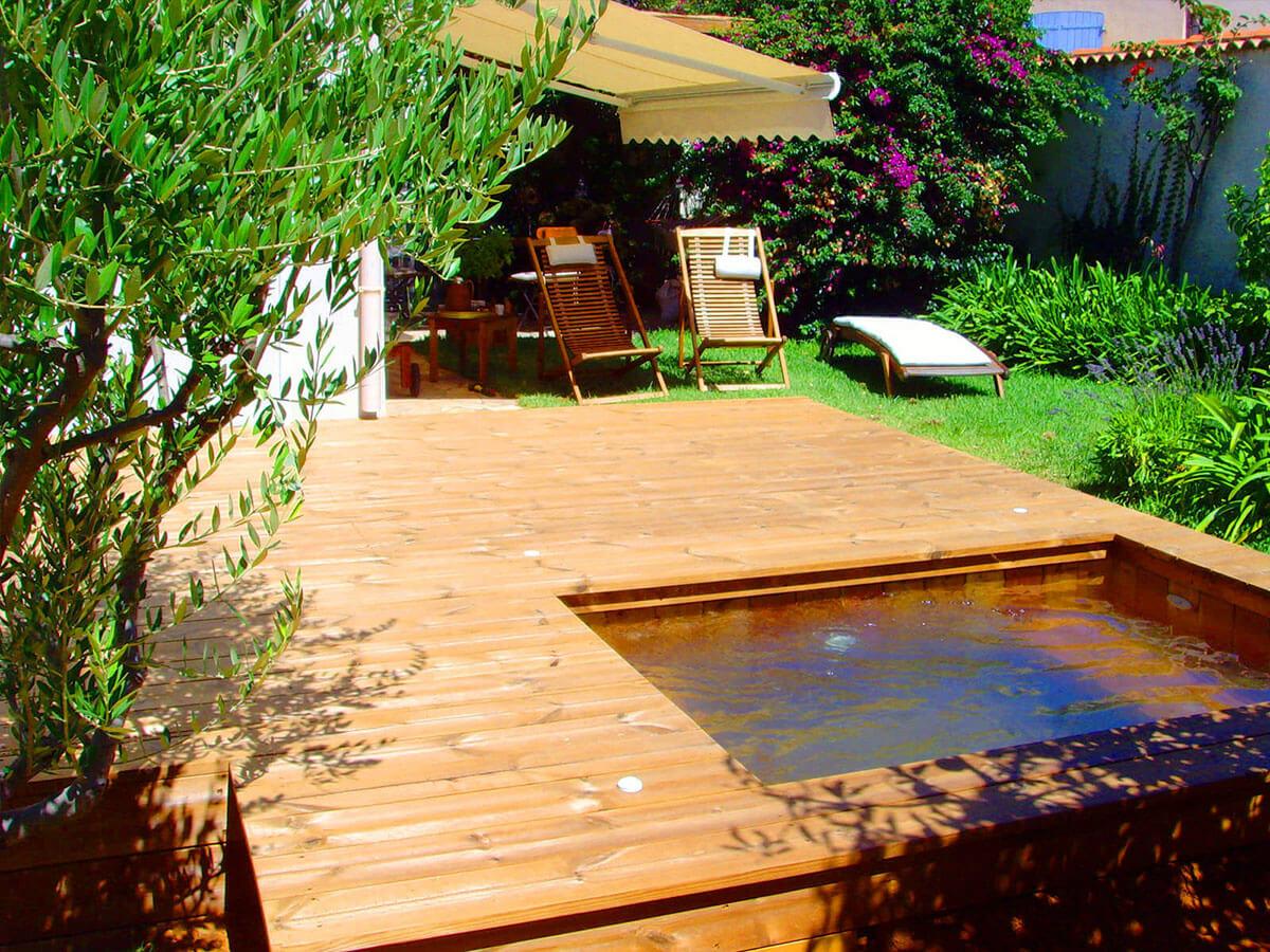 Fabricant de petites piscines en bois enterrées dans le