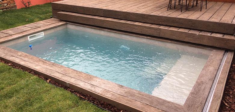 Mini piscine bois 4x2 5 Piscine hors sol semi enterrée