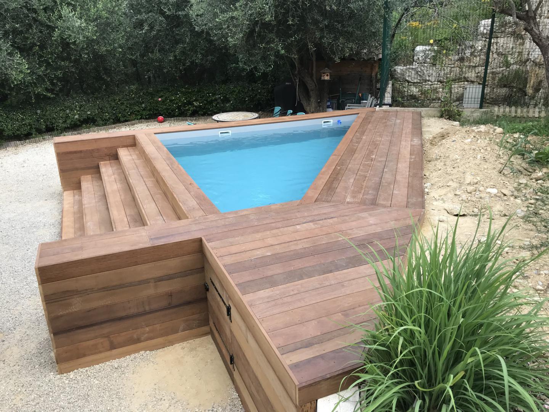 Mini piscine en bois à Nice 06