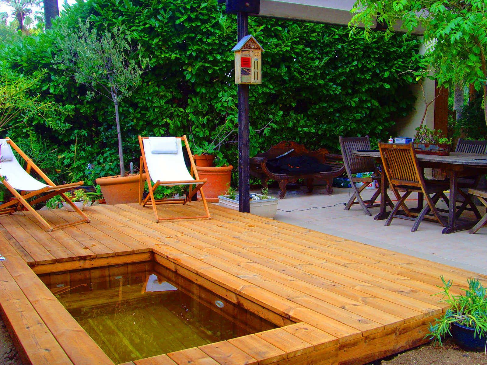 Piscine en bois sur mesure mini piscine