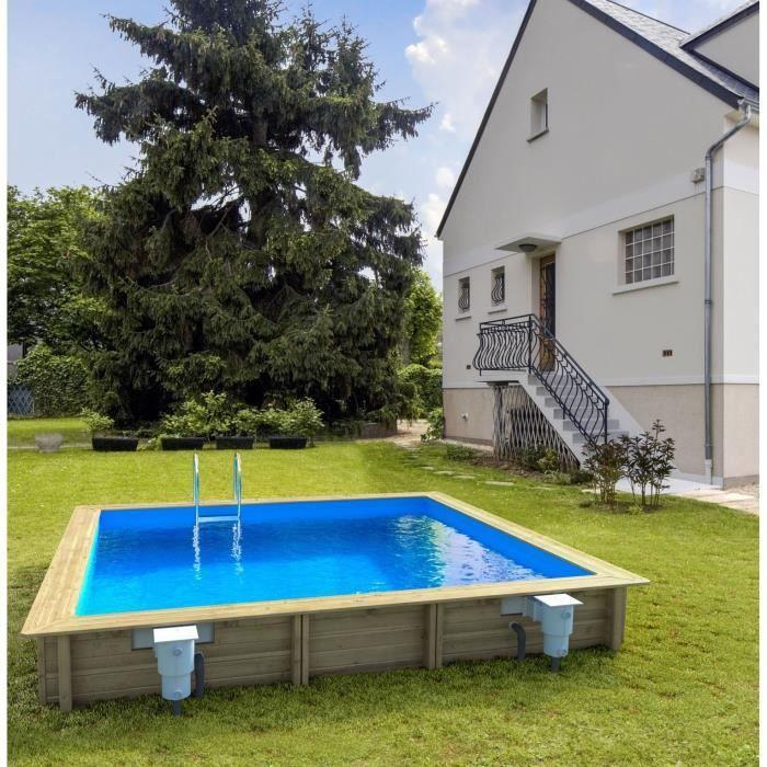 WEVA Piscine bois rectangle 4 5x3 m Hauteur 1 20 m Achat