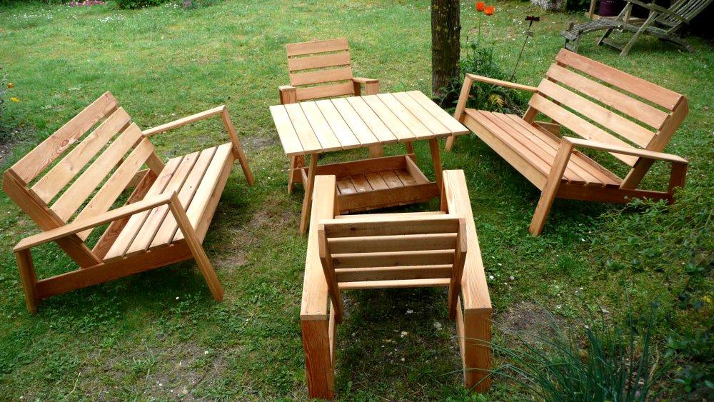 Salon de jardin bois Inspiration pour Jardin