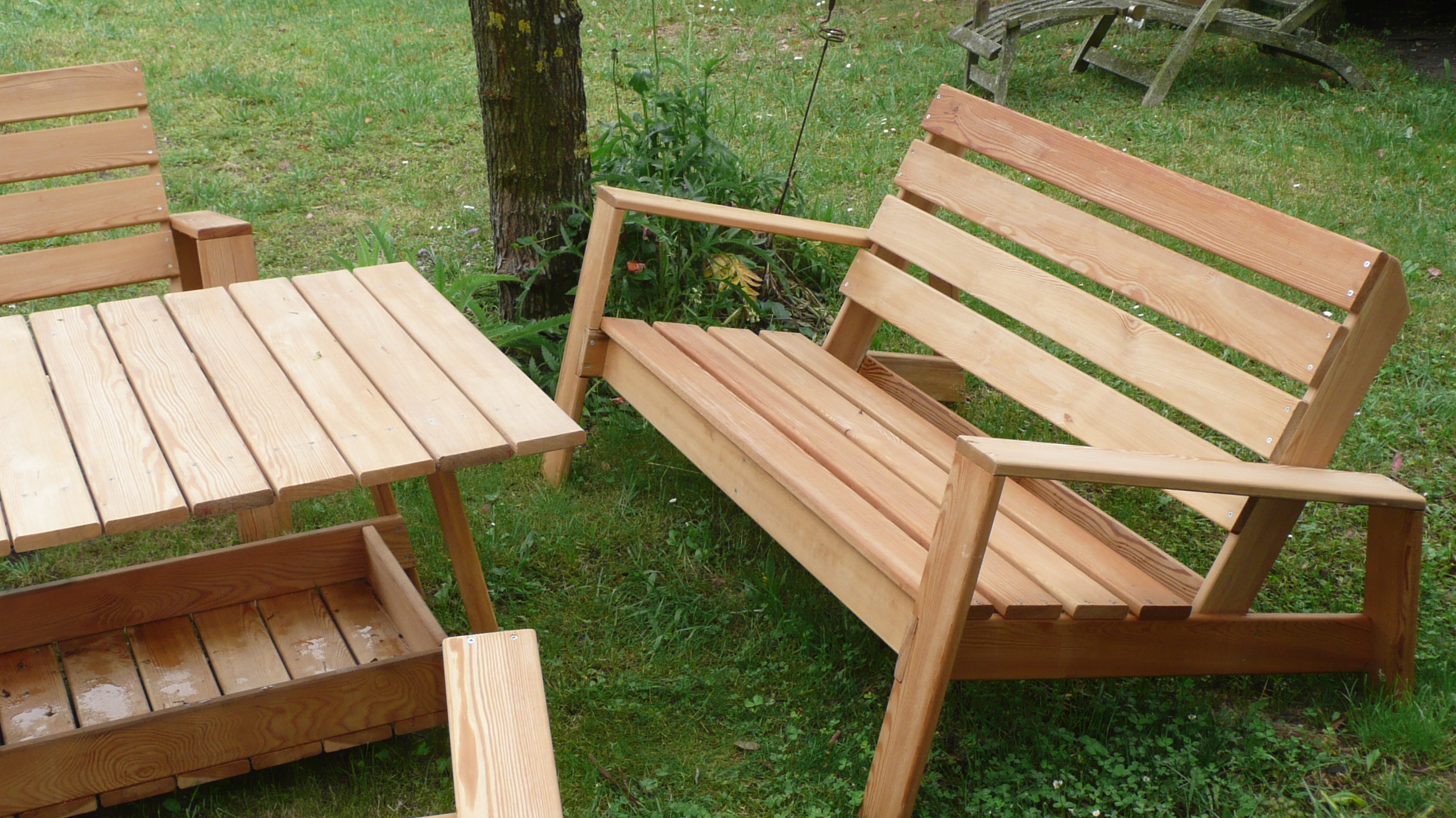 Mobilier de jardin bois table de jardin en aluminium