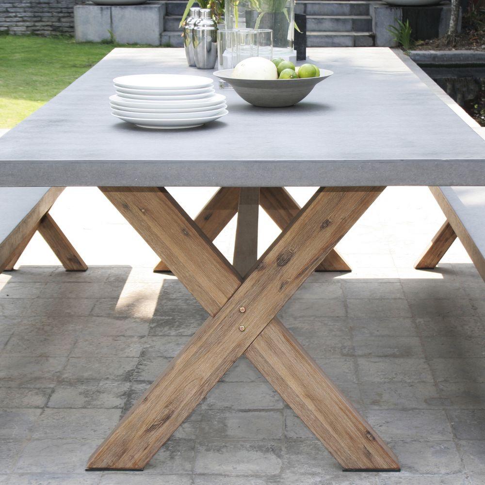 Mobilier de jardin en beton imitation bois Abri de