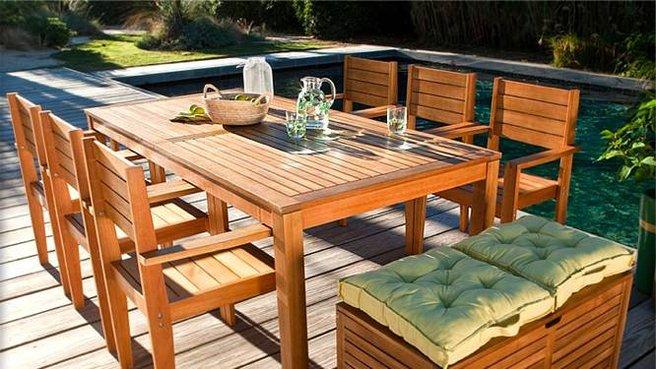Salon de jardin bois la redoute Abri de jardin et
