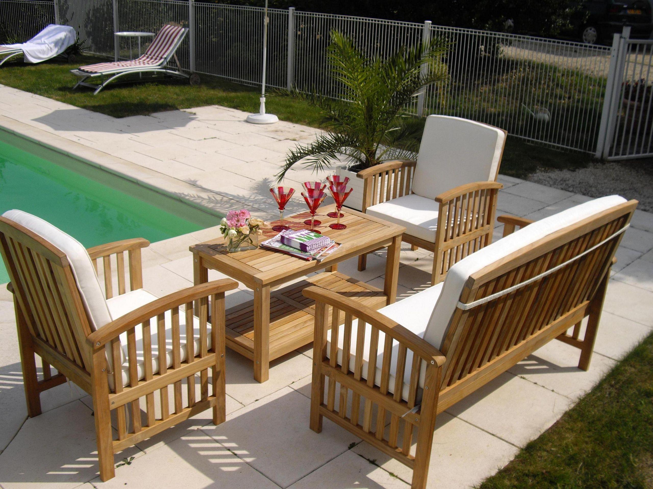 Nettoyer Salon De Jardin En Bois mobilier jardin bois salon de jardin bois métal plastique ou