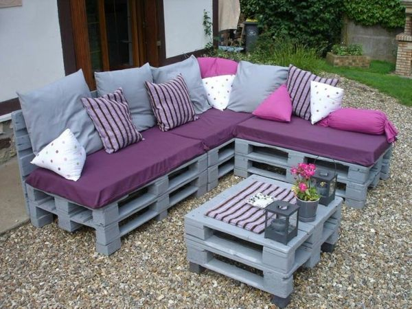 Idées originales de meubles en palettes Mebeli