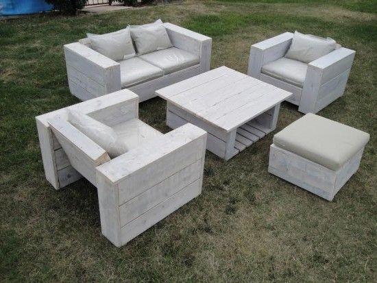Salon Jardin En Palette Bricolage creer du mobilier de