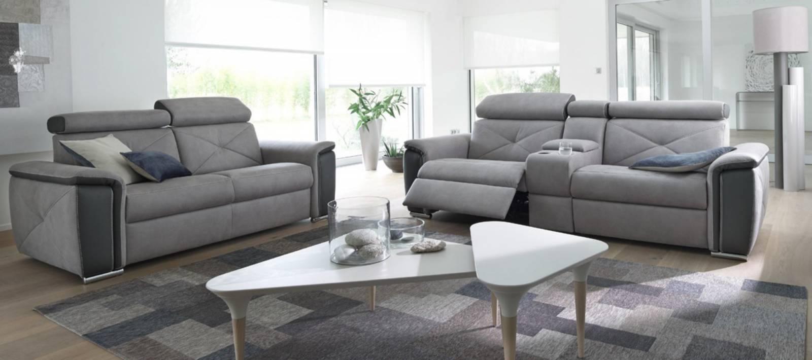 Canapé tissu 2 3 places canapé d angle et pouf Modèle