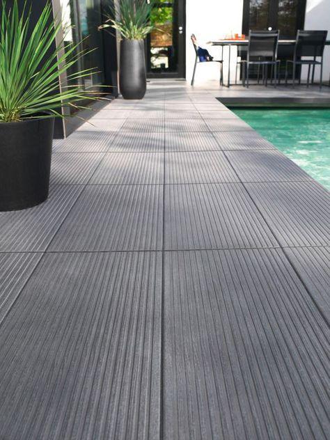 Modele De Terrasse En Carrelage Le Carrelage Colours Loft Anthracite Sera Parfait Pour