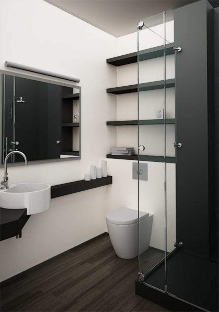 La salle de bain noir et blanc les dernières tendances