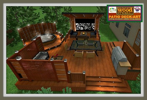 A voir modele patio exterieur en bois