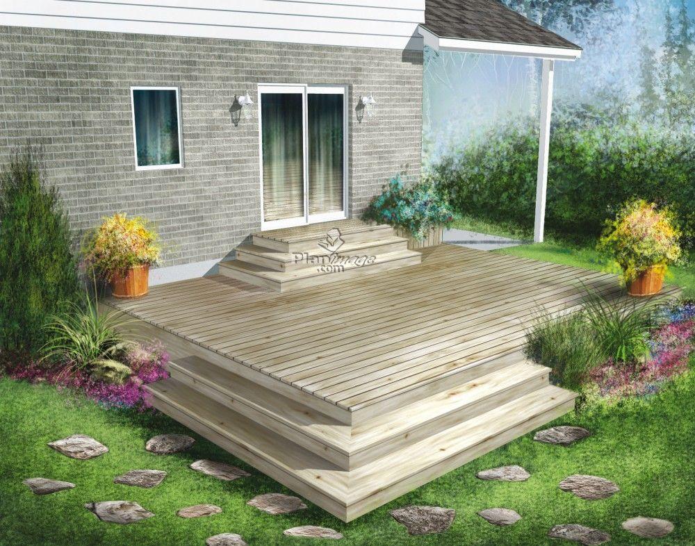 L'élégance de cette terrasse en bois construite