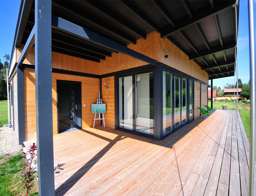 Modele De Terrasse Bois 1 Maison Bois Plain Pied Type