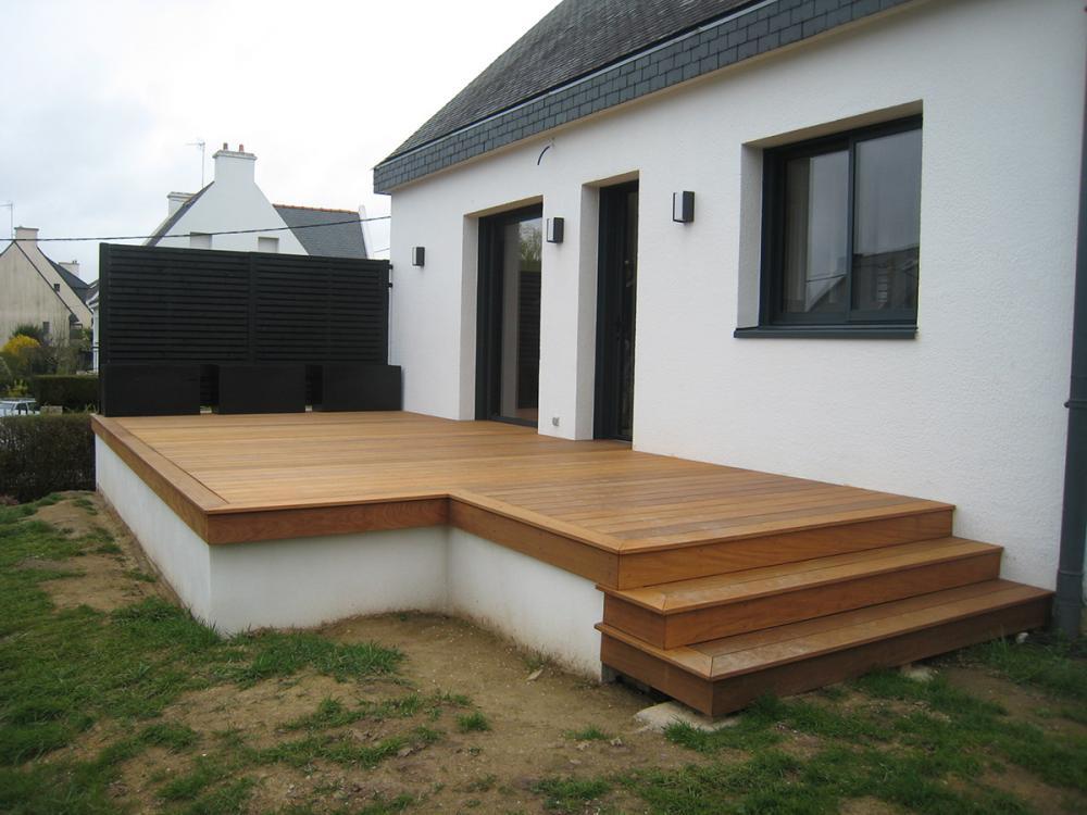 Pose de terrasse en bois sur le secteur de Vannes Auray et