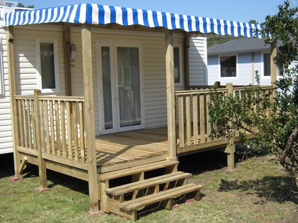 Terrasse Mobil Home 4 50 x 2 50 m couverte à prix discount
