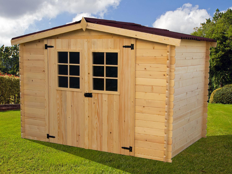 Abri de jardin en bois 20mm HABRITA 9 42 m2 montage inclus