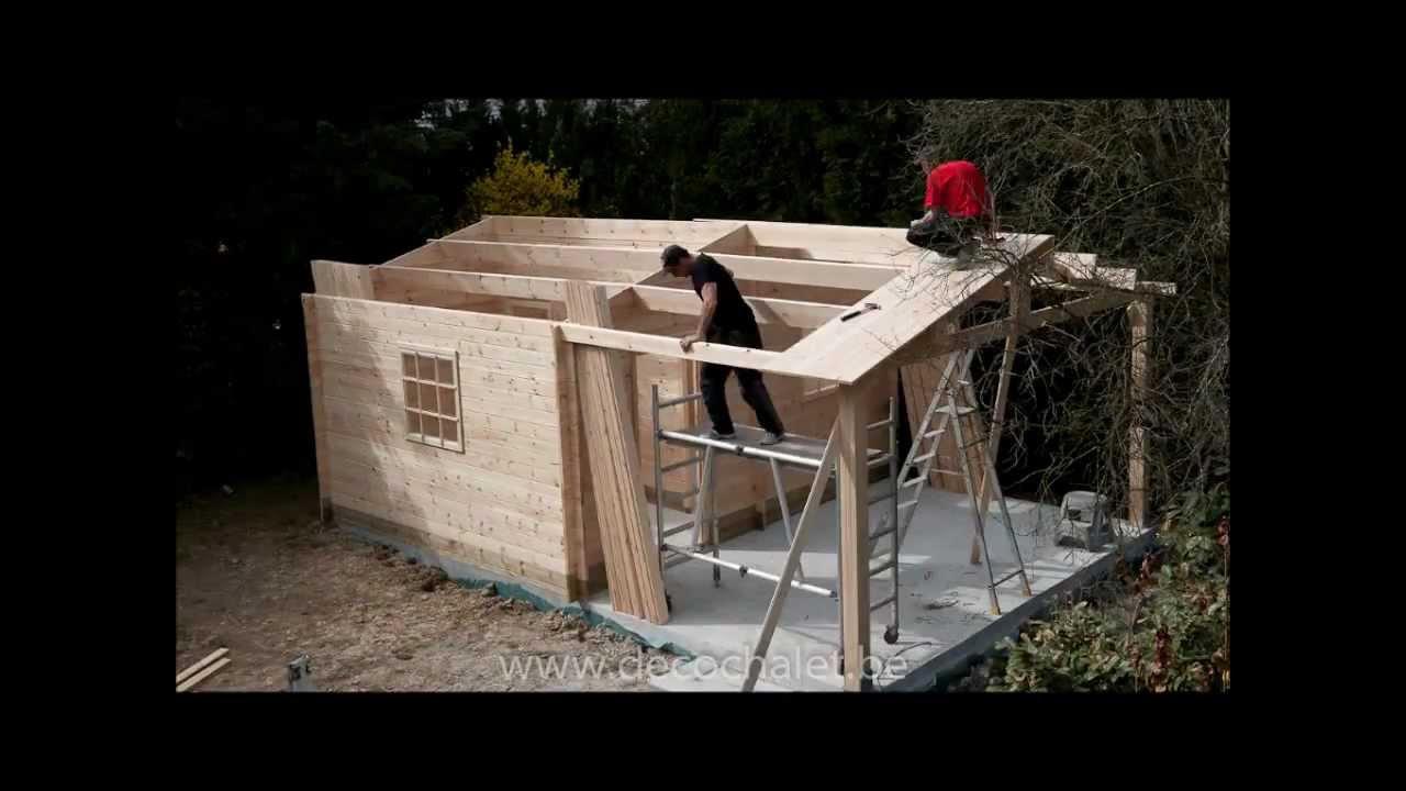 abri de jardin montage de la toiture flv