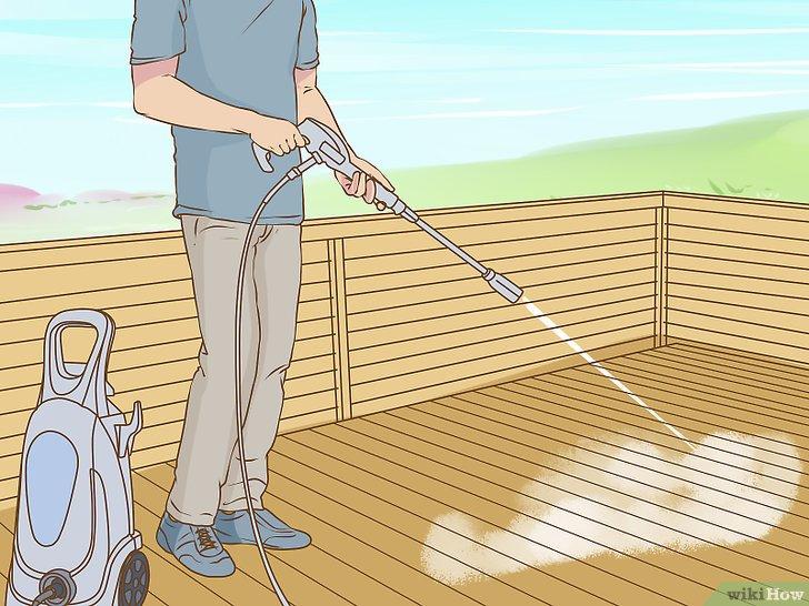 3 manières de nettoyer une terrasse en bois wikiHow