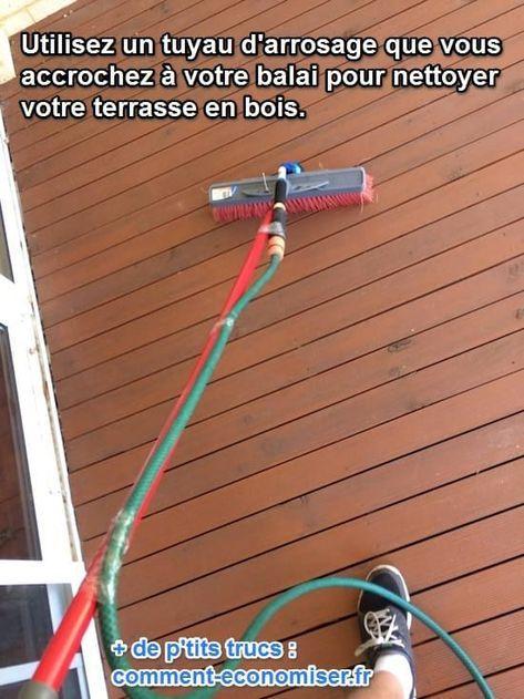 L Astuce la Plus Facile pour Nettoyer une Terrasse en Bois