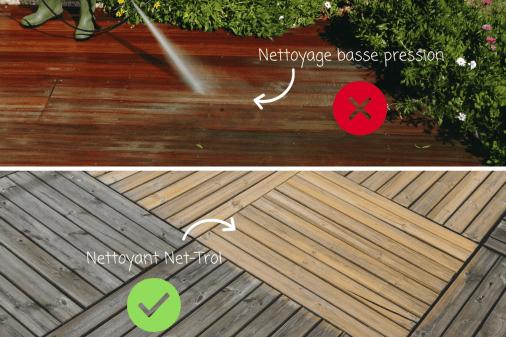 L entretien des terrasses en bois exotique et posite