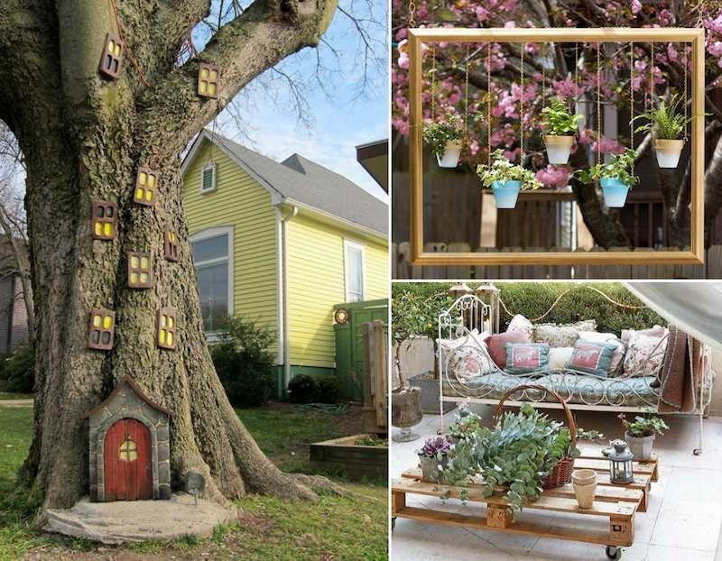 Décor de jardin à faire soi même 25 idées originales pas