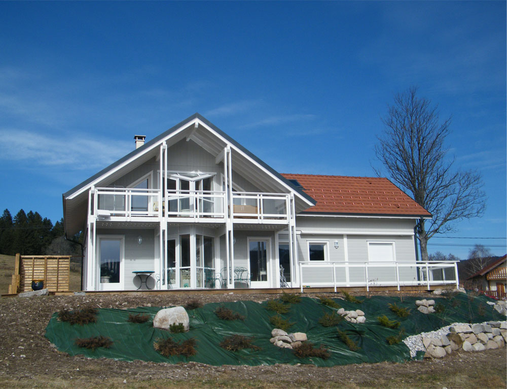 Maison d architecte à ossature bois Nos maisons ossatures