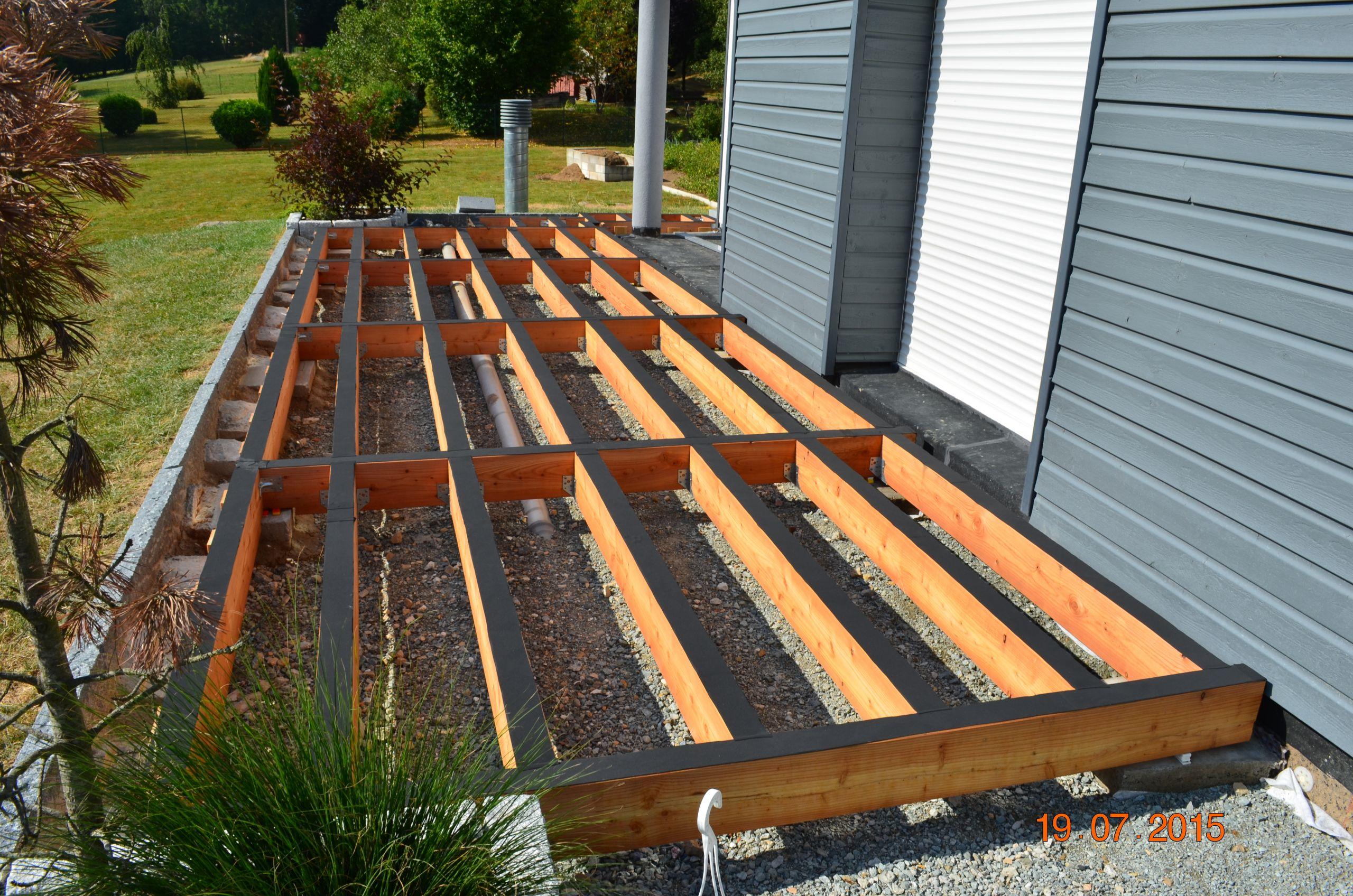Ossature terrasse bois sur plot veranda styledevie