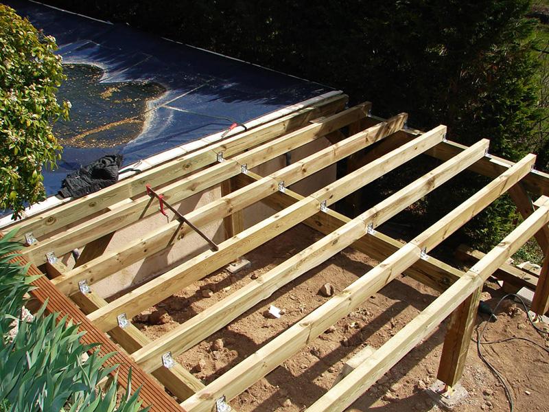 Ossature Terrasse Bois Surelevee Double Structure Pour En