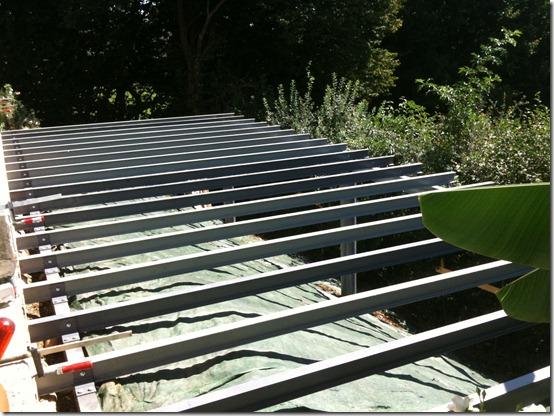 Terrasse Bois Piloti Structure en poutrelles acier type