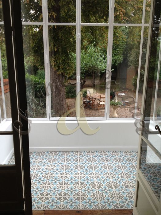sol de veranda en carreaux de ciment Charme & Parquet