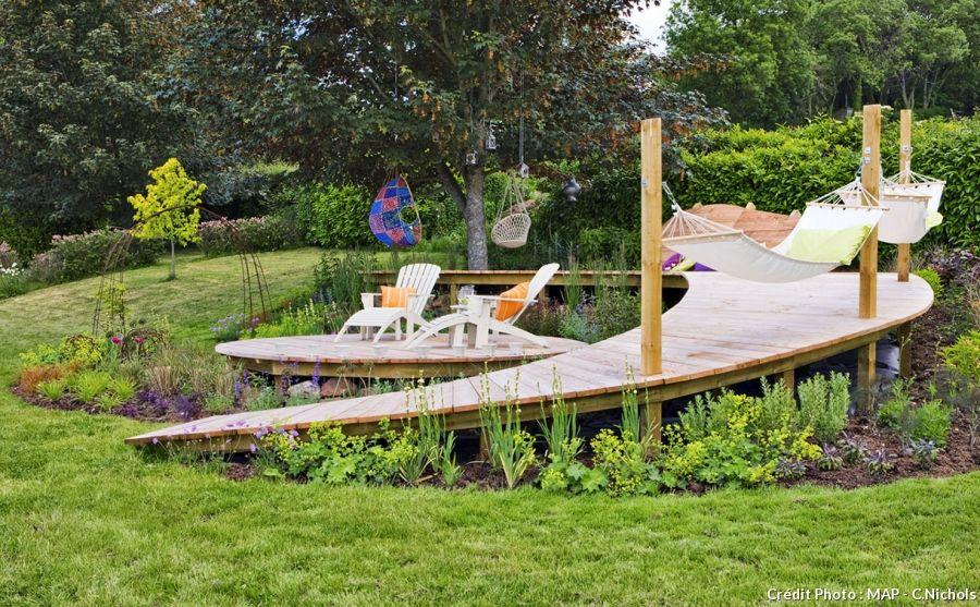 Pente toiture Terrasse Créer Une Terrasse En Bois Sur Un Terrain En Pente - Idees Conception ...