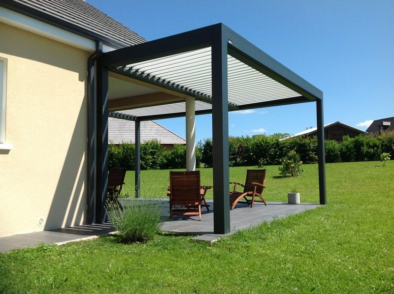 Pergola Aluminium Pour Terrasse Pergola Alu à Lames Pivotantes Broch Habitat