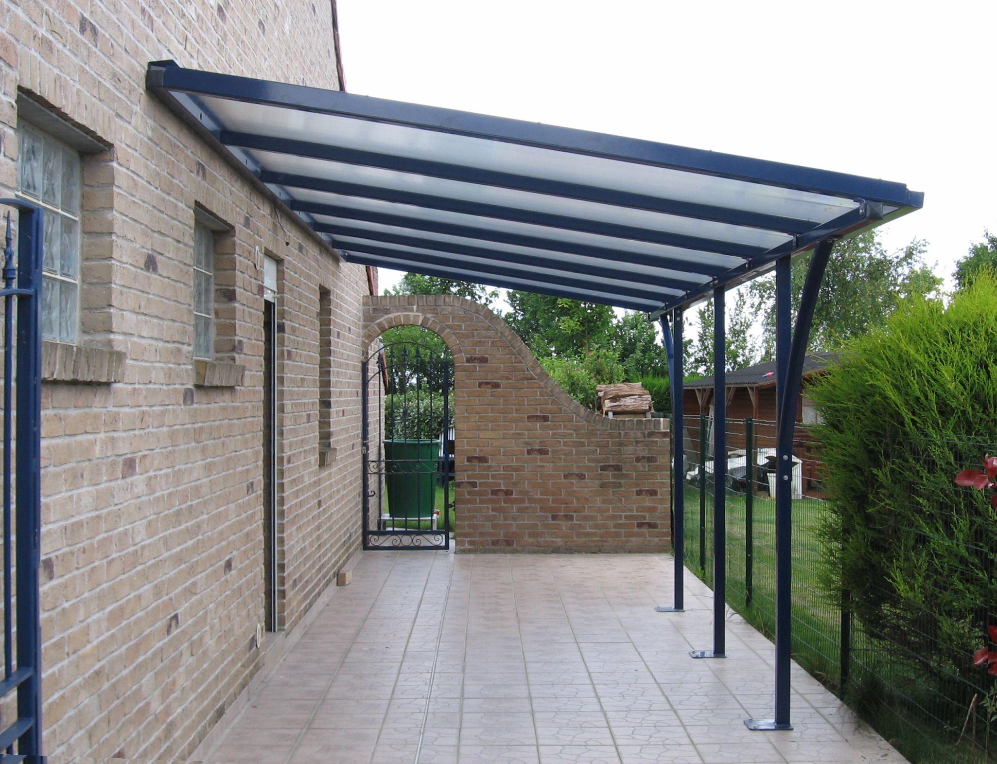 Abri métal de terrasse concept T