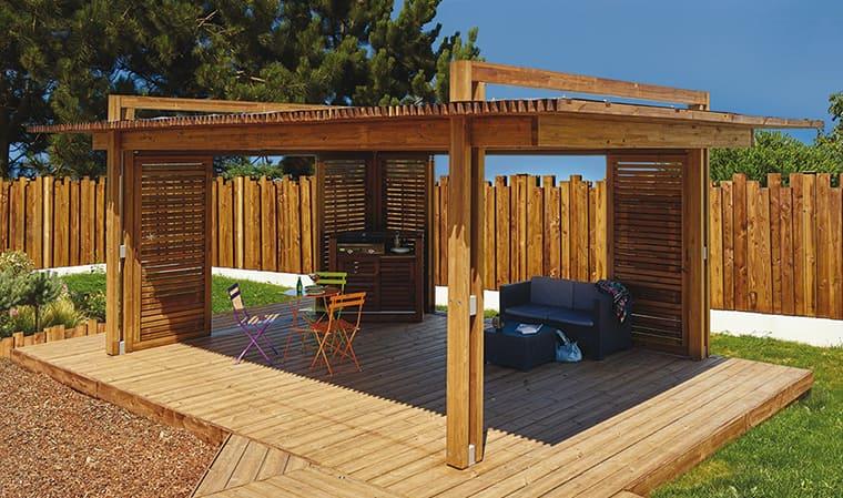 Pergola moderne en bois de pin Sienne